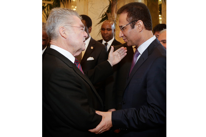 Ambassador Ayoob Erfani was received by H.E. Federal President Dr. Heinz Fischer