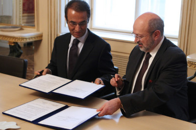 H.E. Ambassador Ayoob M. Erfani and H.E. Lamberto Zannier, Secretary General of the OSCE sign a Memorandum of Understanding concerning the ODIHR Election Support Team