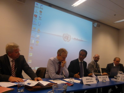 Ambassador Erfani chairs the event ;Relationship between organised crime, illicit economy and sustainable development'