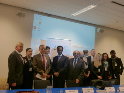 Ambassador with Mr Lemahieu and the other panellists and organisers.