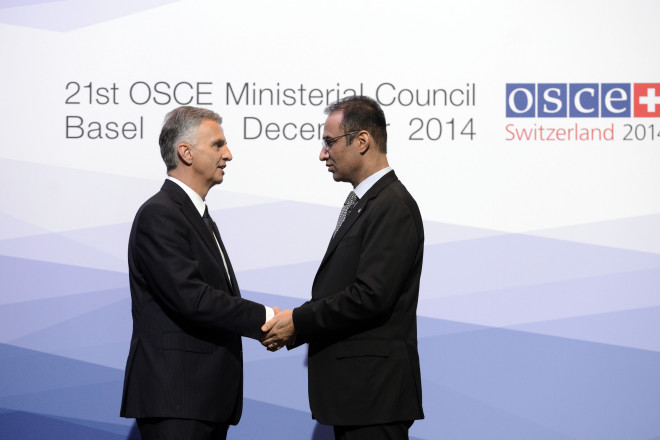 Ambassador Erfani headed the Afghan delegation at the  21st meeting of the OSCE Ministerial Council in Basel