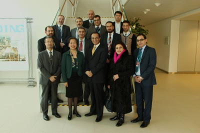 Ambassador Erfani with IAEA experts and the Afghan Delegation