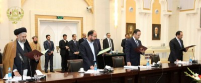 Afghan Cabinet Ministers sworn in.